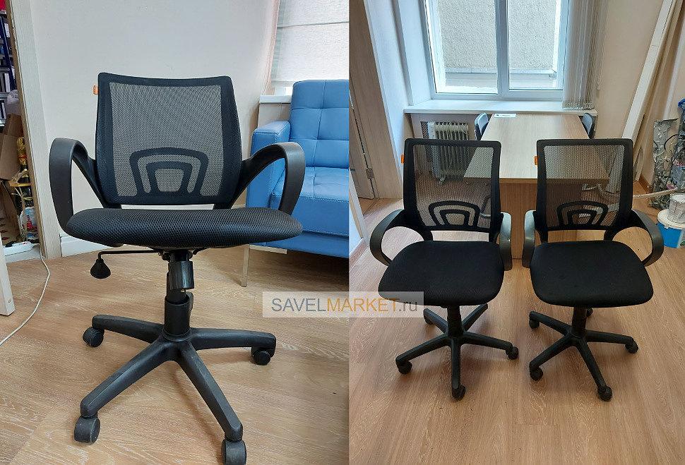 Срочный ремонт кресел, Оператор Savelmarket.ru принял заявку на ремонт двух сетчатых кресел известного производителя Chairman в офисе. На обоих креслах сломались механизмы качания Топ-ган, посадочные места 150х200 - кресла начали крениться.