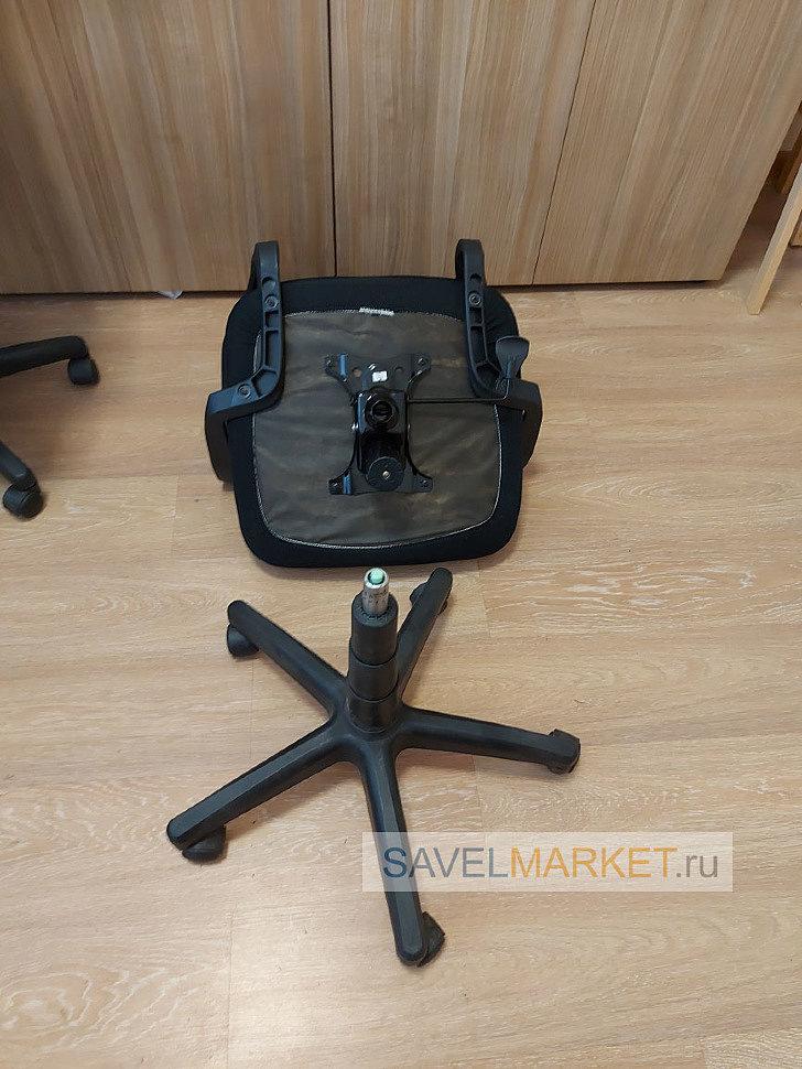 На кресле сломался Топ-ган, ремонт офисного кресла SAvelmarket.ru