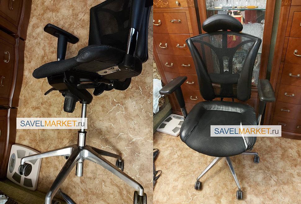 Ремонт кресла сетка в Москве - замена мультиблока с синхроплатой  Savelmarket ru