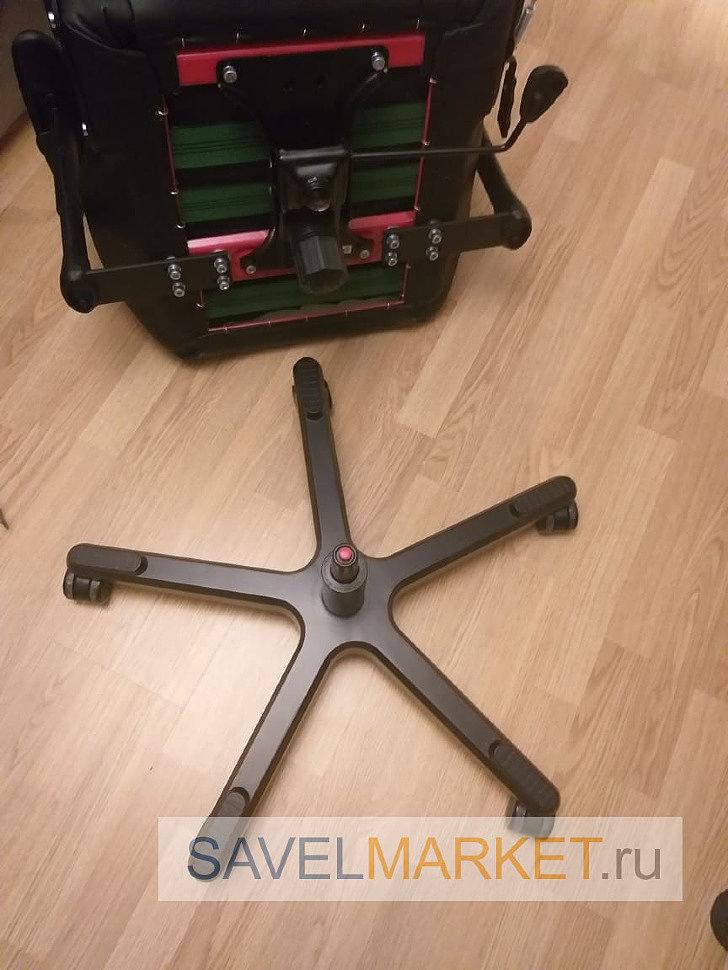демонтаж газлифта с игрового кресла