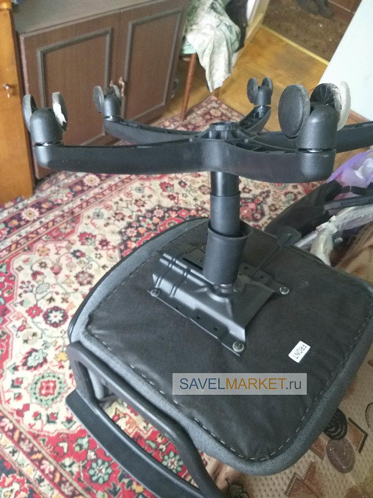 Сломалась пиастра на кресле, ремонт компьютерных и офисных кресел на дому
