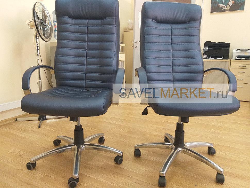 Мастер отремонтировал 2 кожаных офисных кресла
