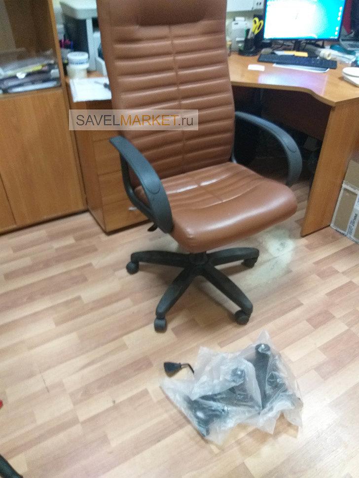 Ремонт компьютерных кресел в офисе, замена газлифтов и Топ-гана