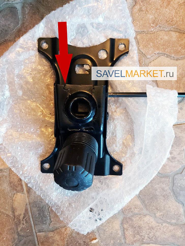 Сломался механизм качания Топ-ган - выезд мастера на дом, в офис в день обращения, Запчасти для ремонта офисных кресел - Savelmarket ru
