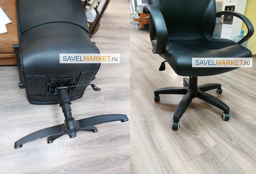 Замена колес на офисном кресле Chairman в Москве Savelmarket ru