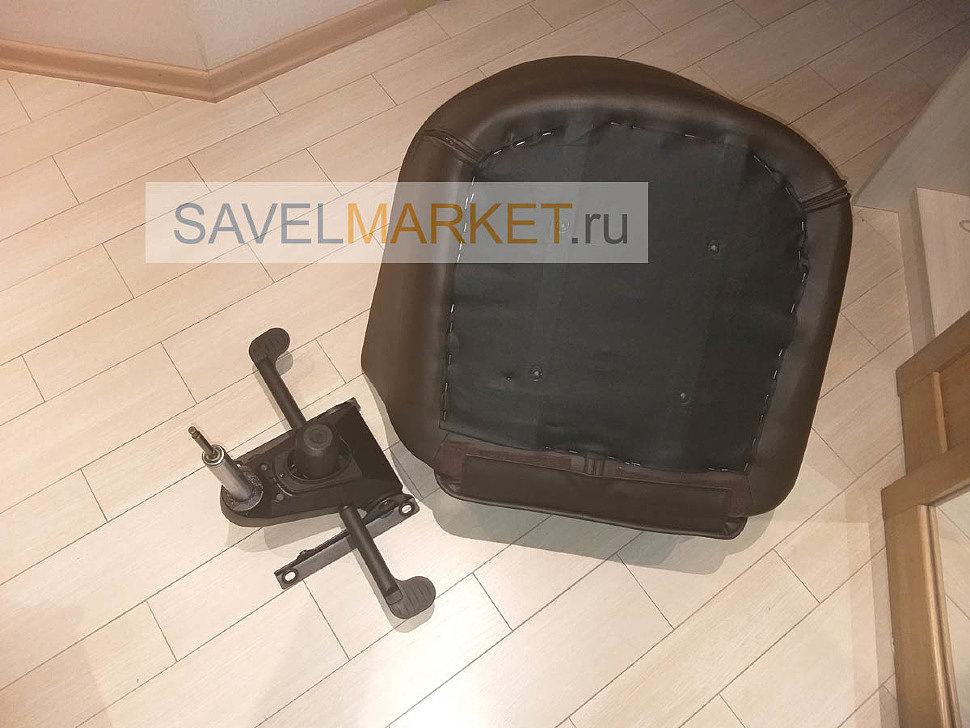 Замена газлифта на кожаном кресле с Мультиблоком, ремонт больших мягких кресел