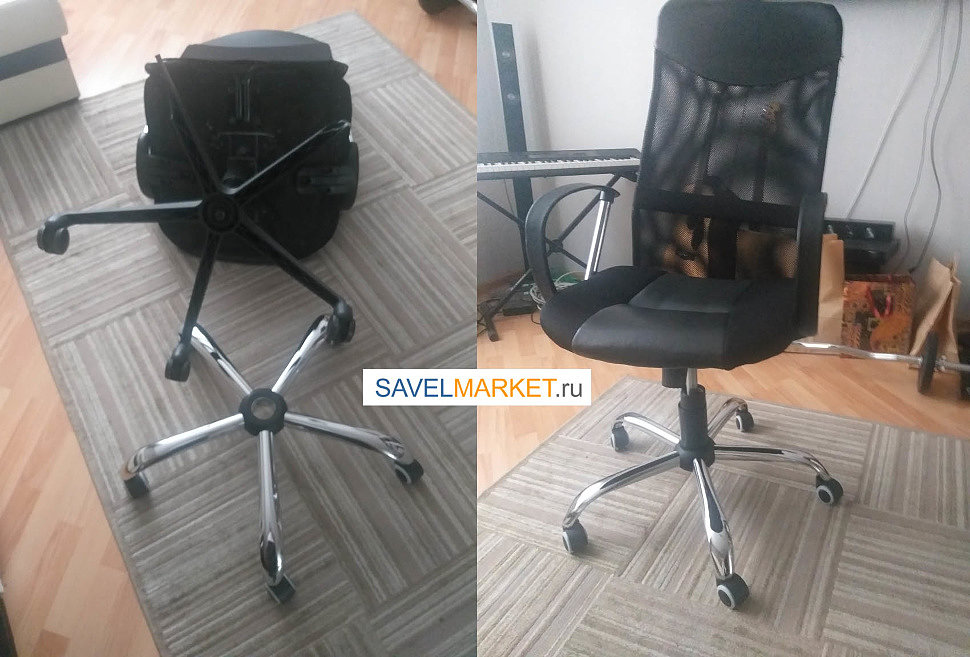 Ремонт сетчатого кресла, замена пластиковой крестовины на стальную
