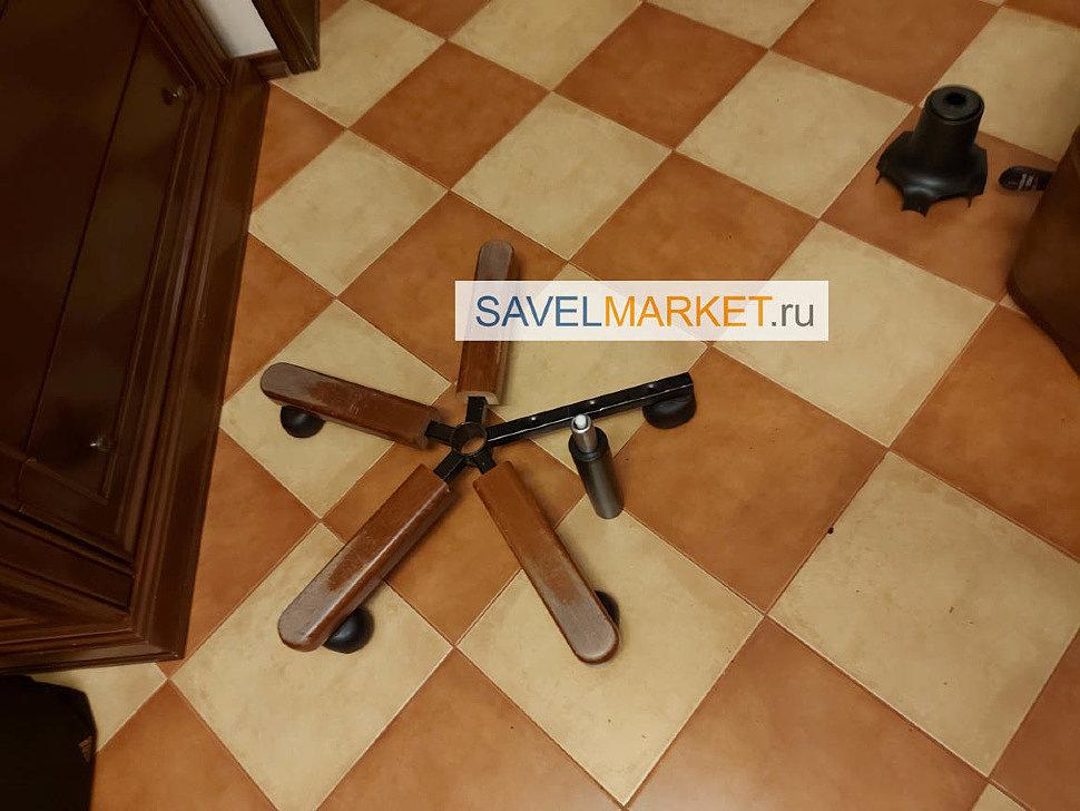Деревянная крестовина для компьютерного кресла купить - Ремонт компьютерных кресел, замена газлифта, купить запчасти для компьютерных и офисных кресел в магазине SavelMarket ru метро Савеловская