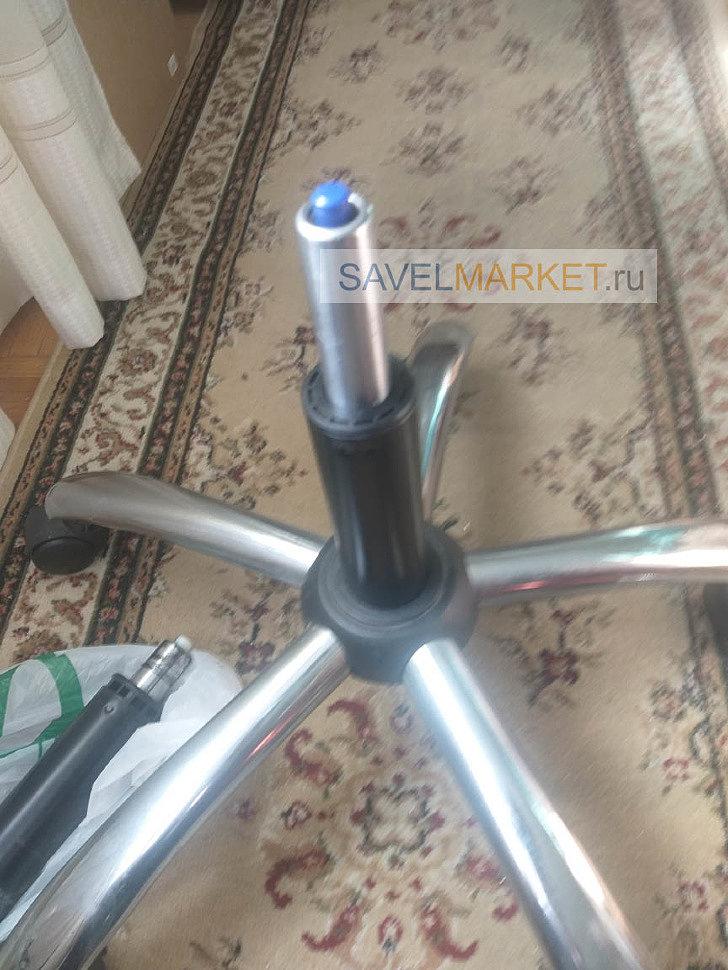 Ремонт кресла, замена газлифта на усиленный 4 класса, Savelmarket