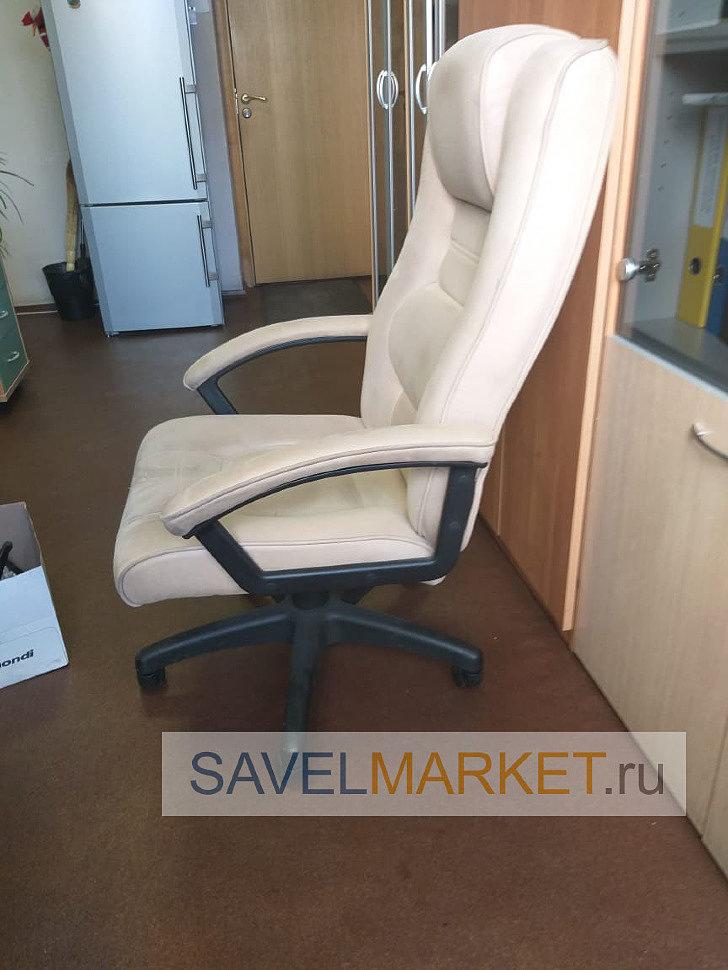 Отремонтированное компьютерное кресло с возможностью фиксации наклона спинки