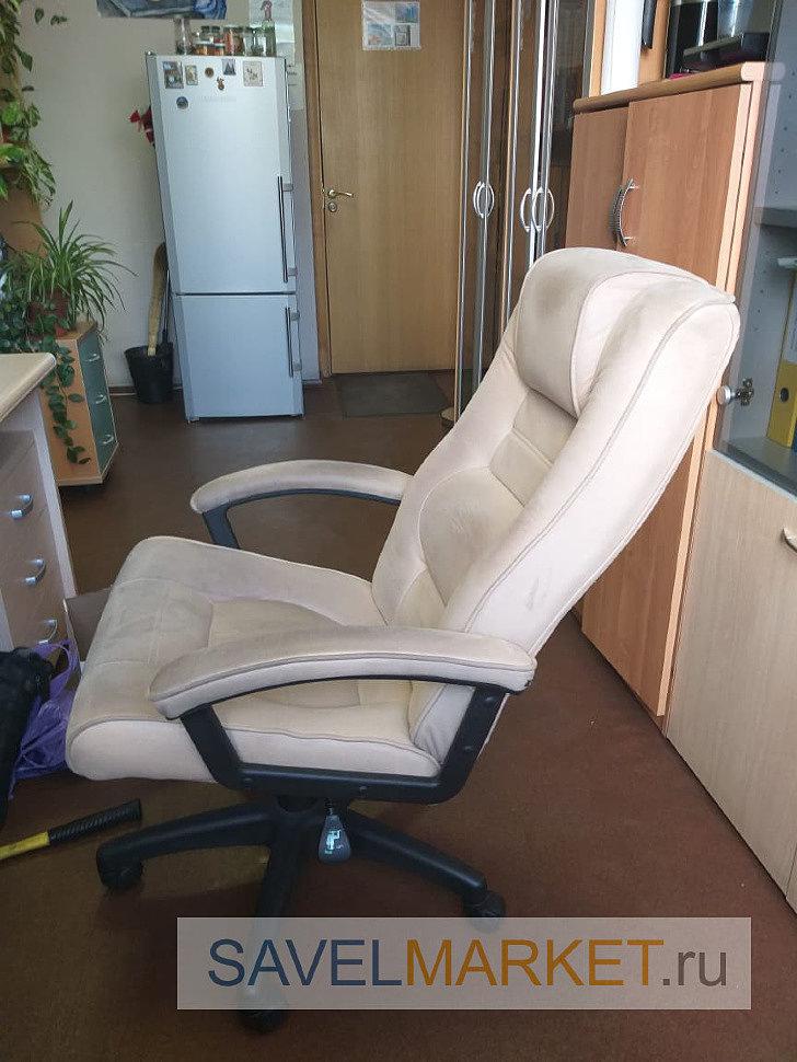 Мастер установил новый механизм G005 Lux, который позволяет фиксировать кресло при откидывании спинки