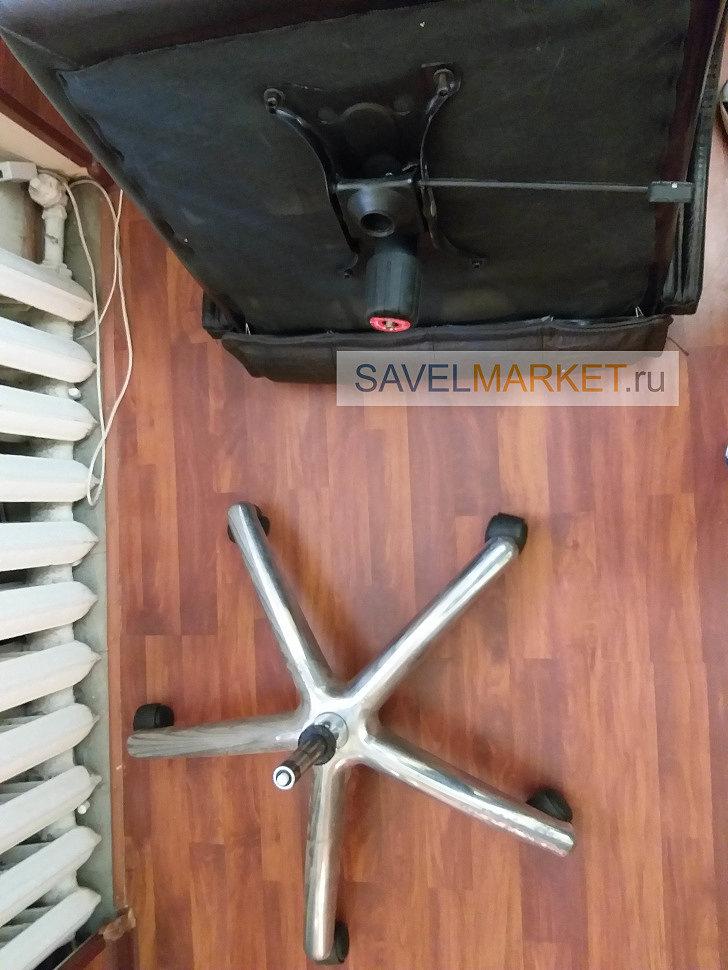 Мастер Савелмаркет, ремонт кожаного кресла, замена механизма Топ-гана