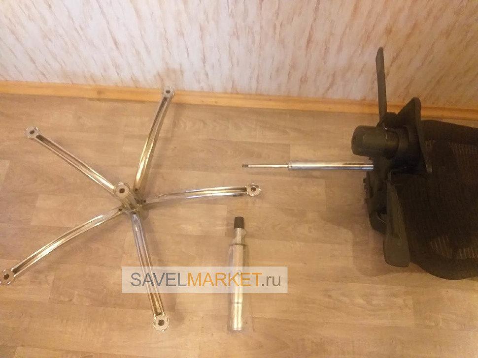 Savelmarket ремонт кресла, Вместо сломанного газлифта заказчик выбрал газлифт с завышенным конусом 120/220 3 класса.