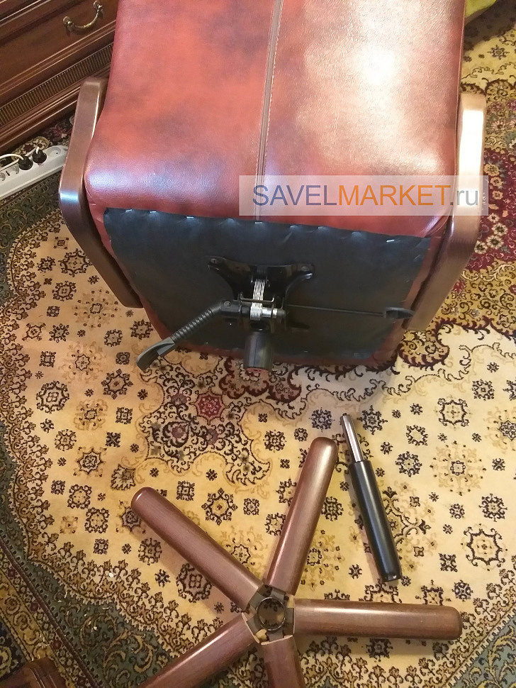 Ремонт кресла, мастер Савелмаркет заменил газлифт на кресле