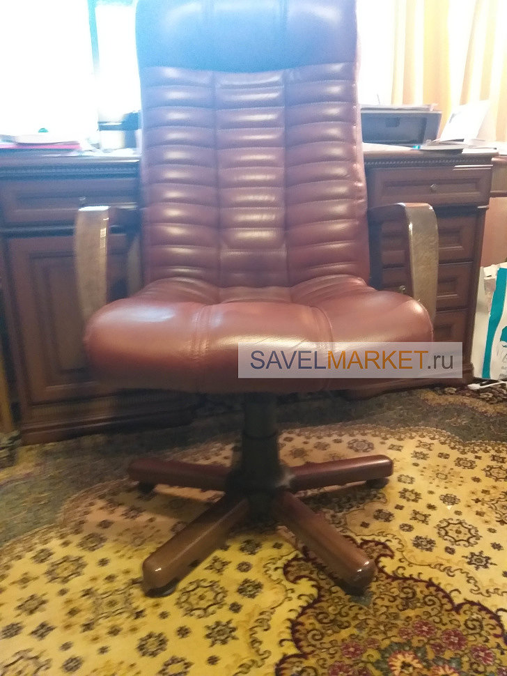Ремонт кожаного кресла в Москве, выезд мастера в день обращения