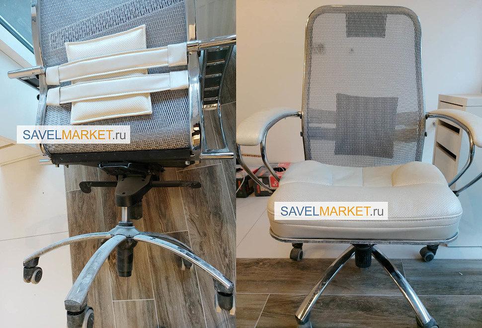 Ремонт кресла Самурай Samurai Metta - замена газлифта, SavelMarket ru