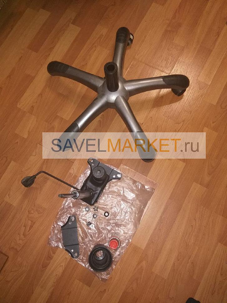 демонтаж механизма Топ-Ган на кресле Chairman CH-668