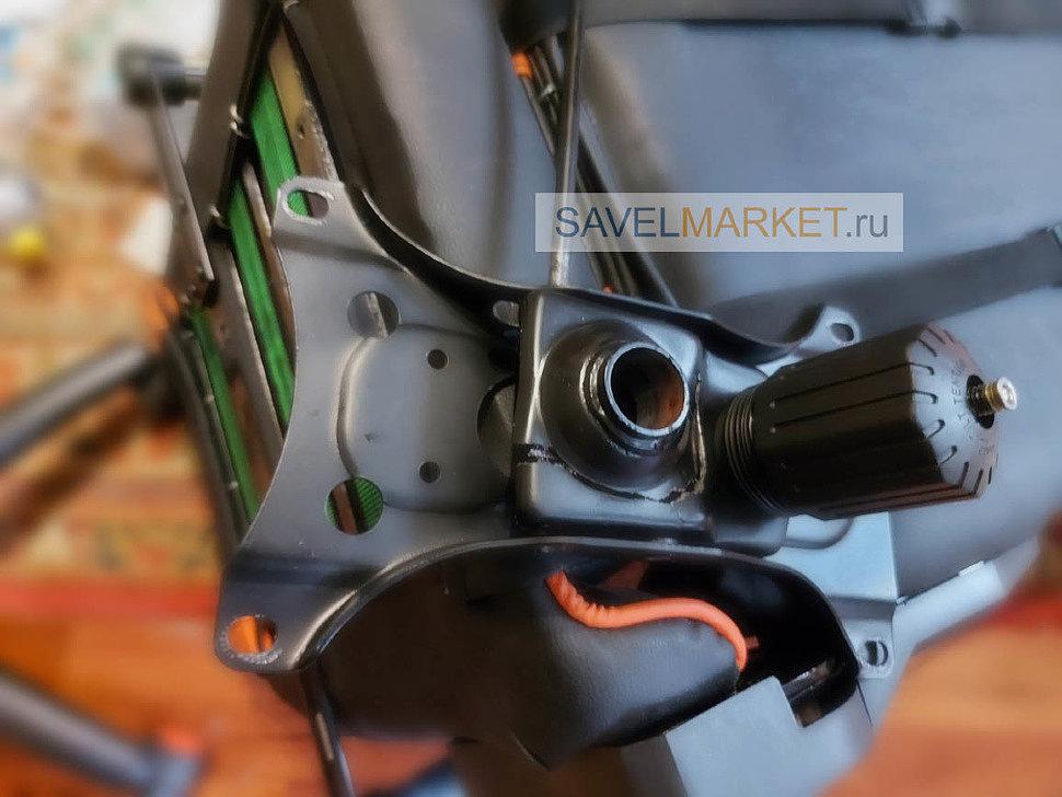 Ремонт игрового кресла - Поступила заявка на ремонт игрового кресла ThunderX3. На подвижной части механизма Топ-гане в процессе эксплуатации появилась трещина.