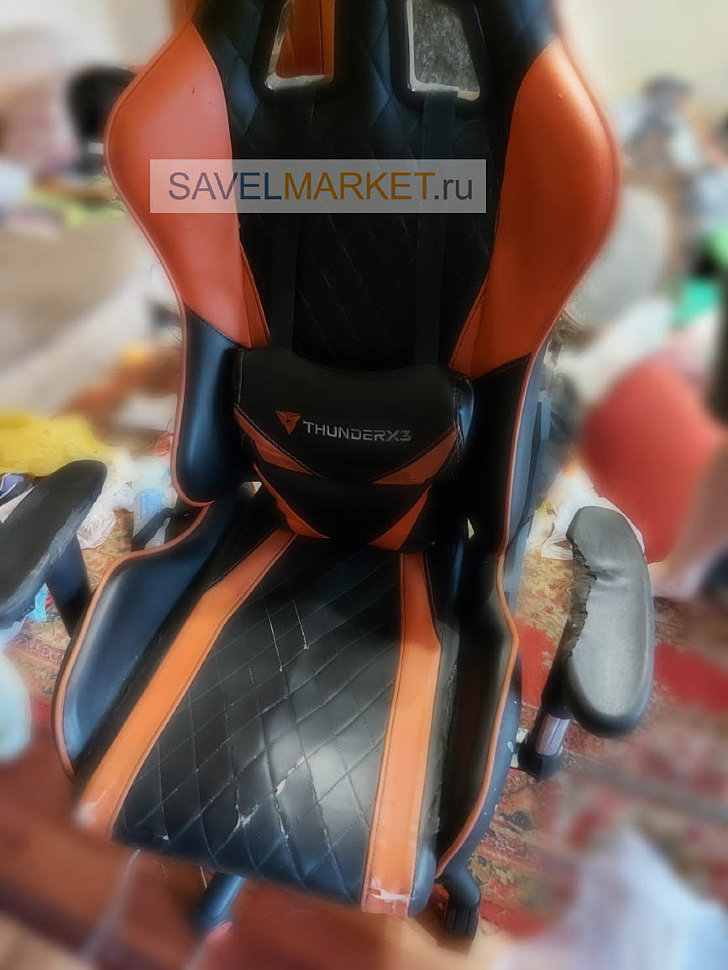 Ремонт игрового кресла ThunderX3 - замена Топ-гана, выезд мастера по Москве