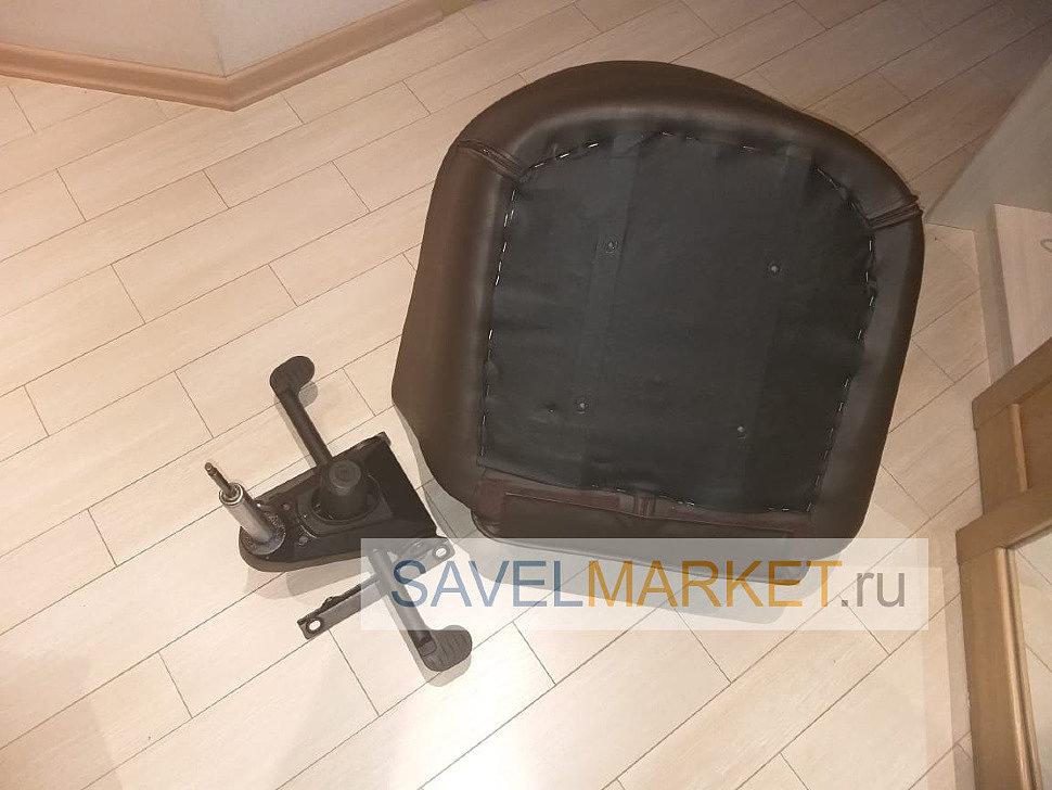 Ремонт кожаного кресла с мультиблоком, замена газлифта