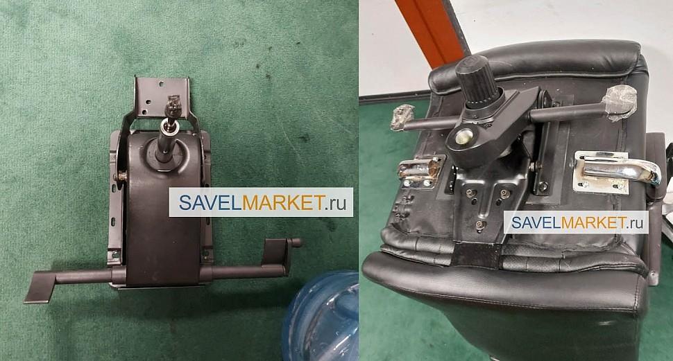 Ремонт кресла - замена механизма на кресле через переходник - В мастерскую SavelMarket поступила заявка на ремонт кресла с заменой штатного механизма с нестандартными точками крепления на новый механизм Мультиблок с синхроплатой