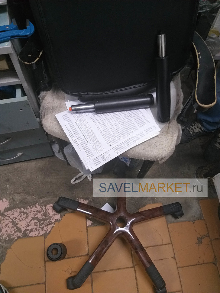 Ремонт компьютерного кресла - замена газлифта на усиленный Stabilus