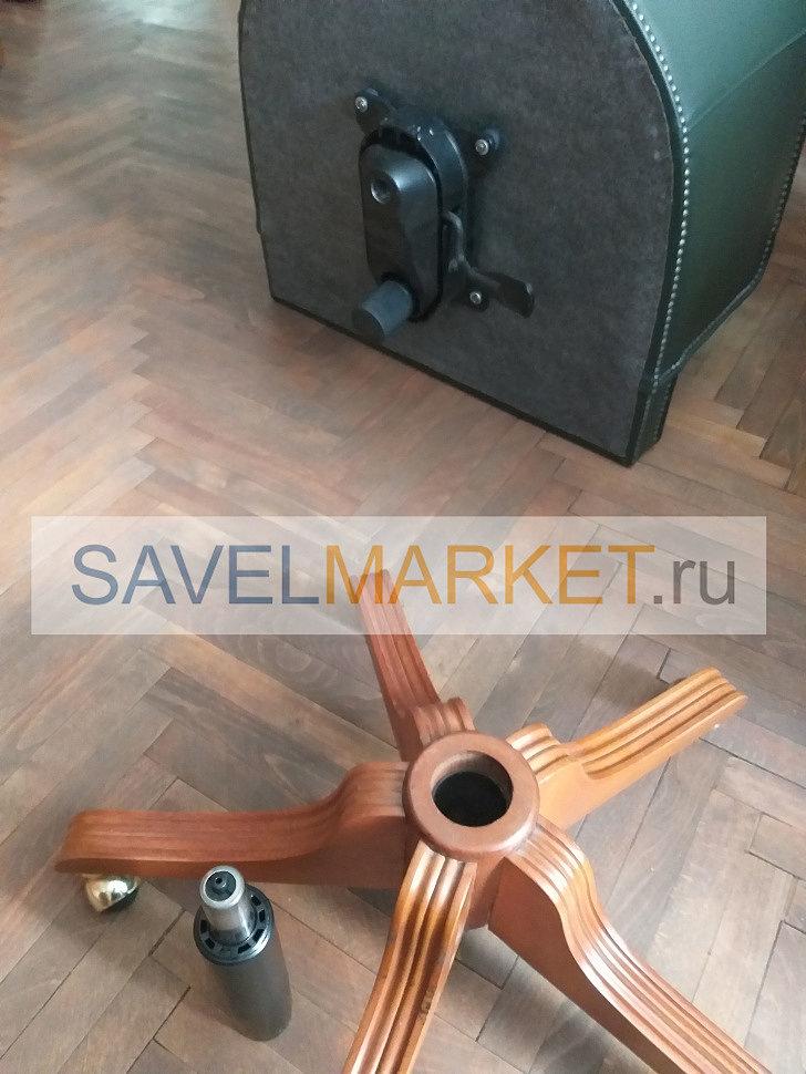 Мастер СавелМаркет демонтировал поломанный газлифт на кресле