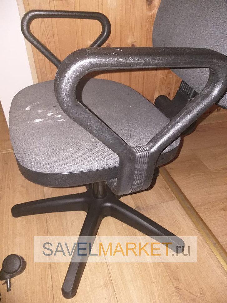 Пластиковая крестовина для офисного кресла, ремонт