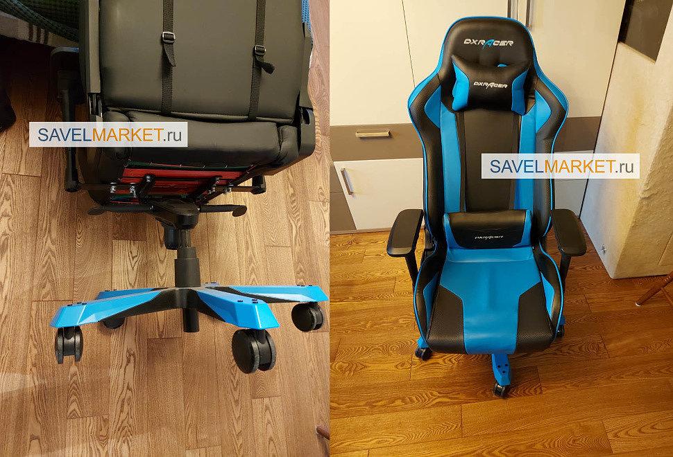 Ремонт игрового кресла DXRacer серии King - замена газлифта 3 класса с завышенным конусом