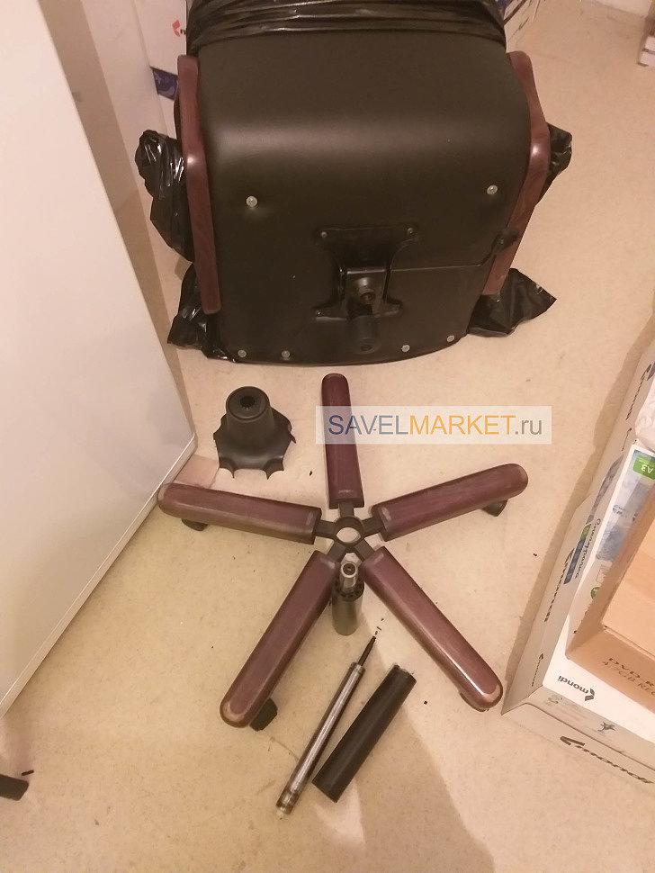 Ремонт офисного кресла, как снять газлифт