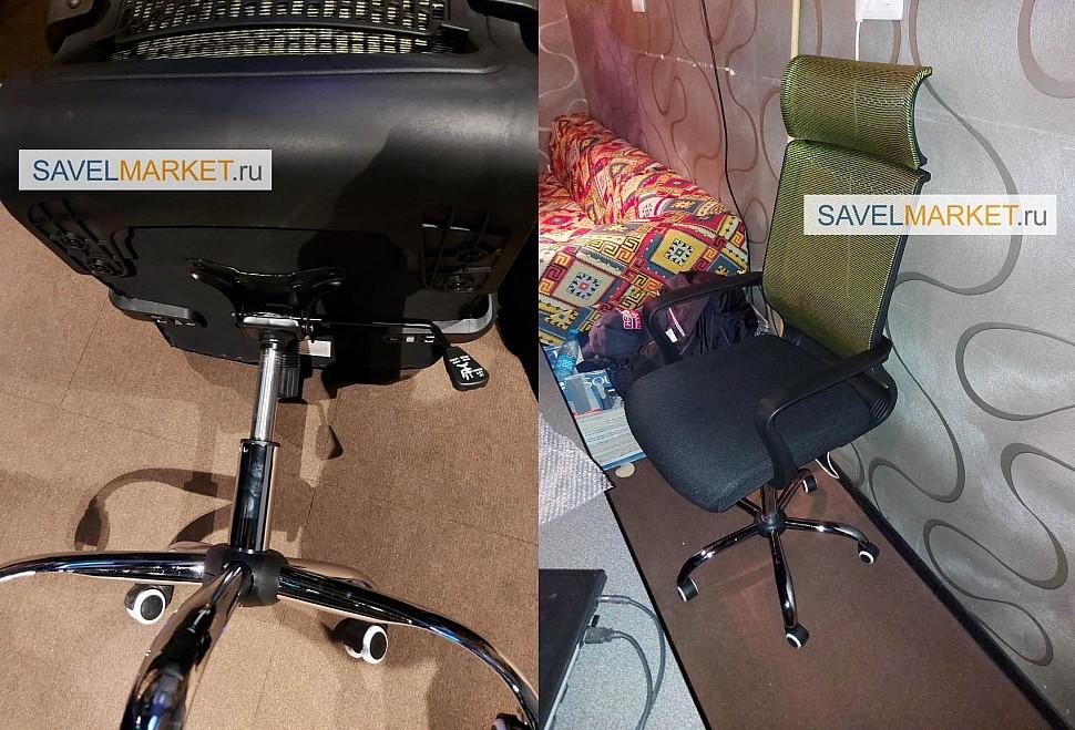 Увеличение высоты на компьютерном кресле заменой высокого газлифта - В сервисный центр SavelMarket поступила заявка с задачей увеличить высоту кресла более 5см от текущего максимального подъема кресла