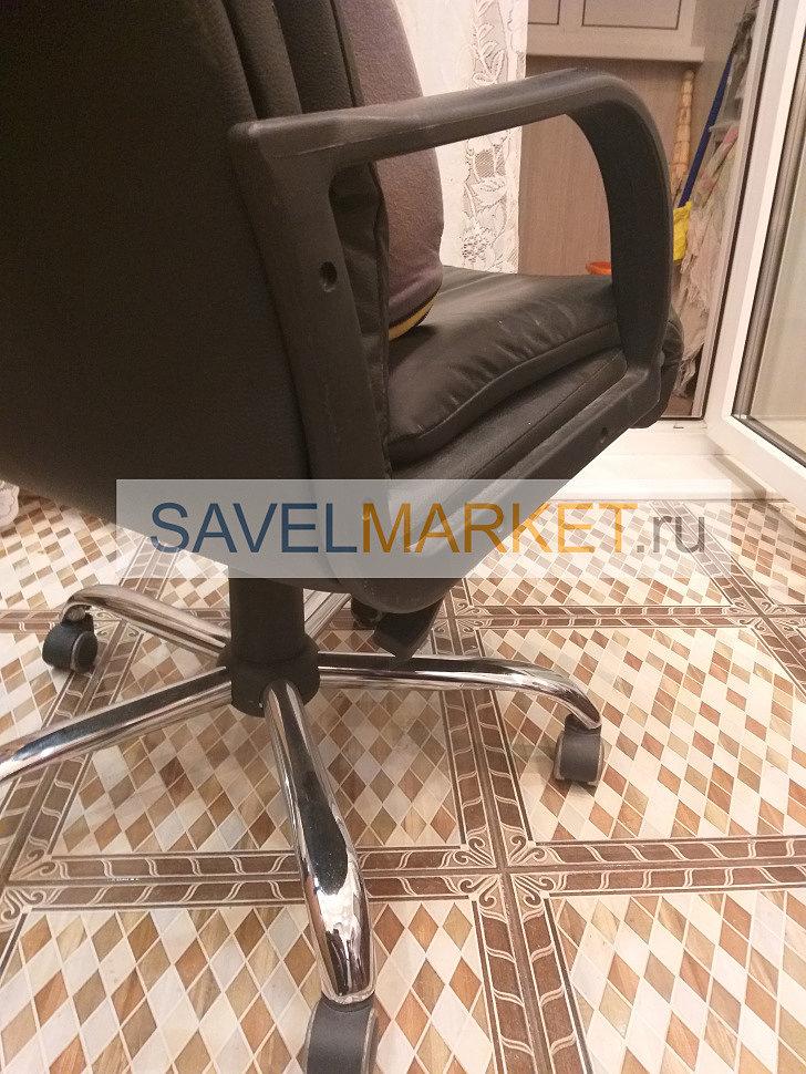 Ремонт кожанного кресла, замена газлифта