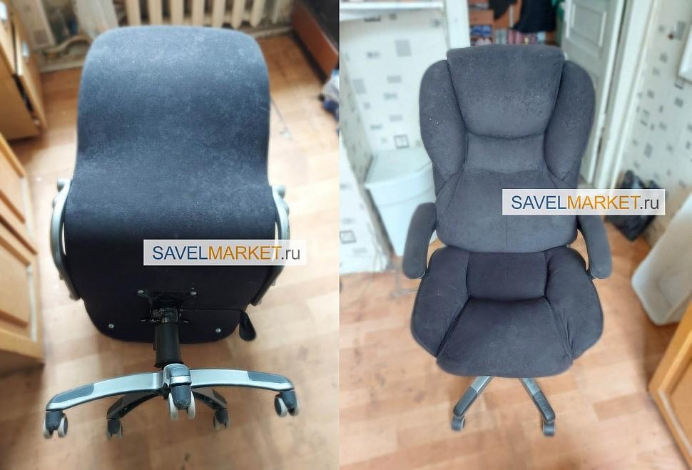 Ремонт кресла Бюрократ, замена механизма Топ-Ган 150x250, На кресле сломался механизм качания Топ-ган посадочные места 150х250мм.