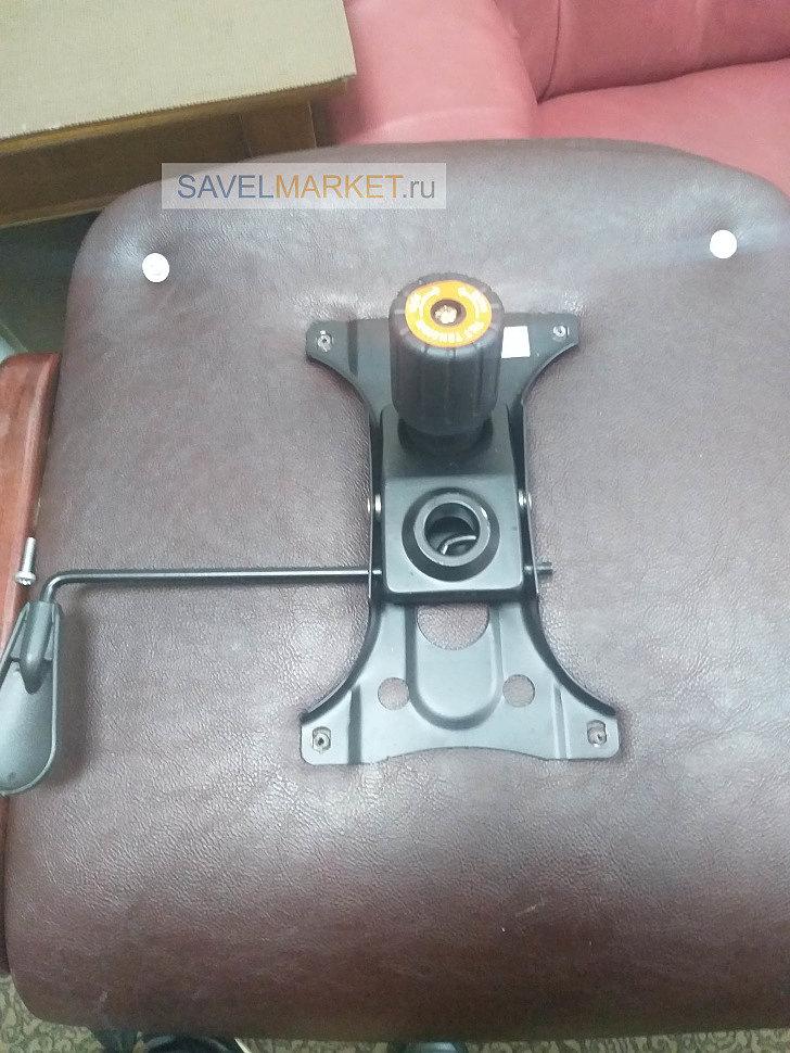 Замена Топ-Гана на кожаном кресле. Ремонт кресла