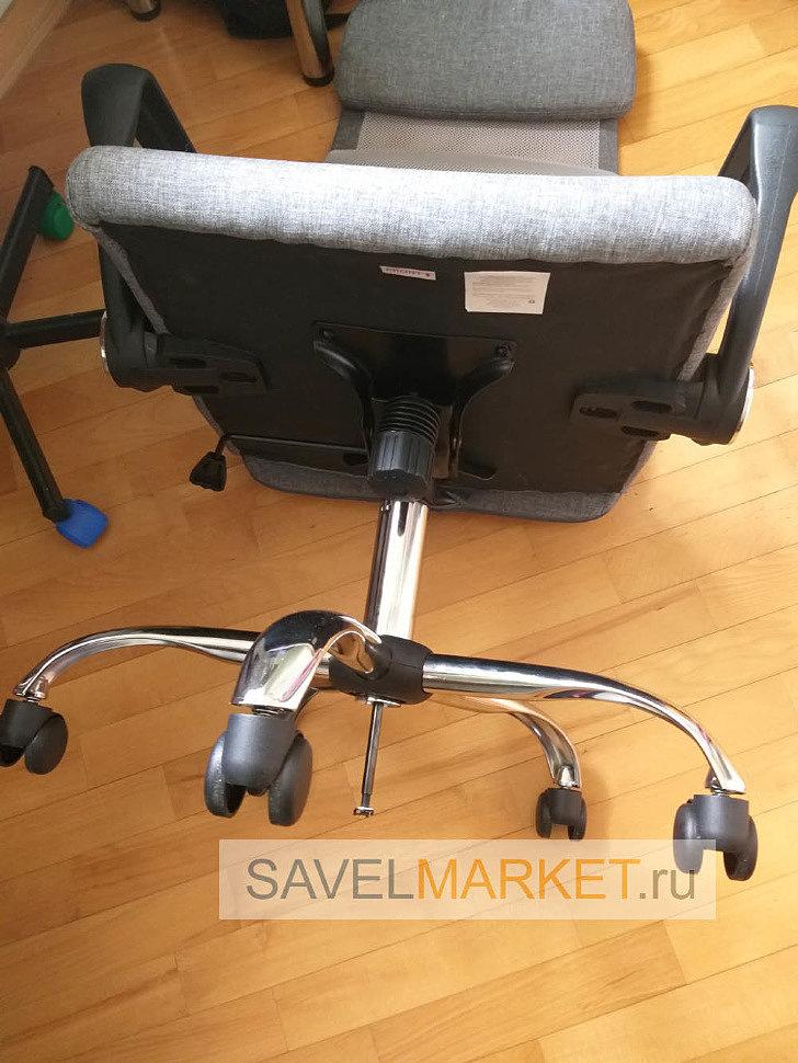 Сломалось офисное сетчатое кресло, ремонт - замена хромированного газлифта