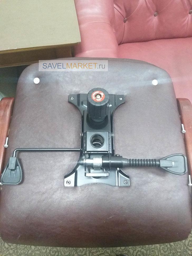 Ремонт кресла мастером Savelmarket, замена классического Топ-Гана G003 с посадочными местами 150х250мм. на механизм G005 LUX