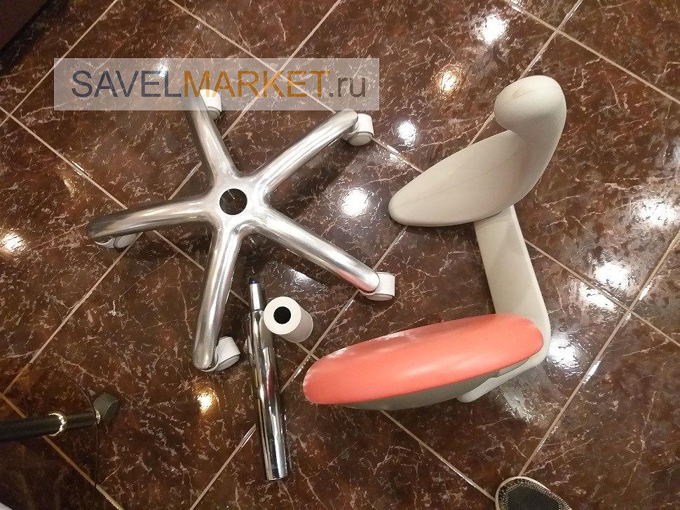 Демонтаж газлифта, крестовины на стоматологическом кресле