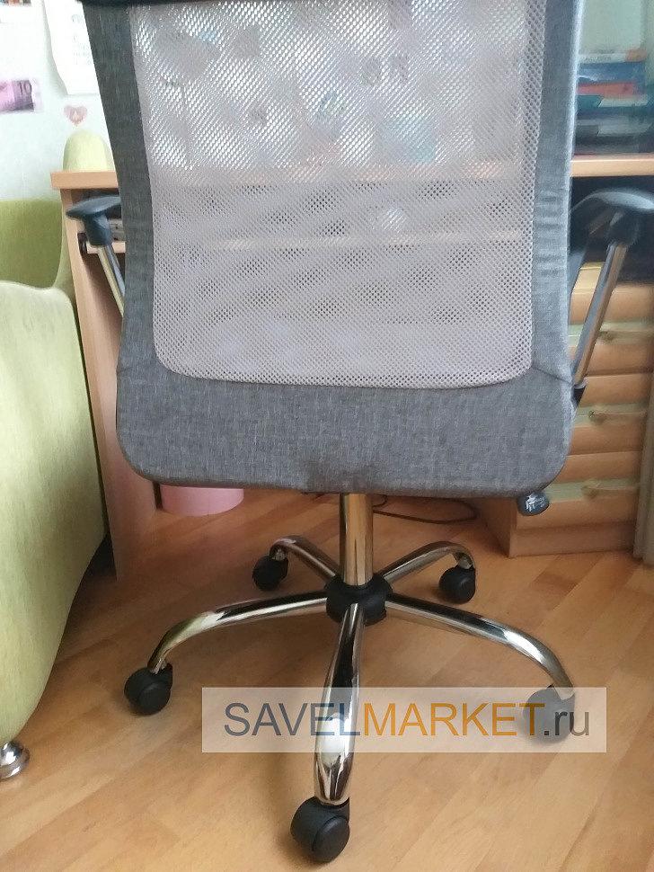 Мастер SavelMarket отремонтировал офисное кресло. Срочный ремонт компьютерных и офисных кресел в Москве