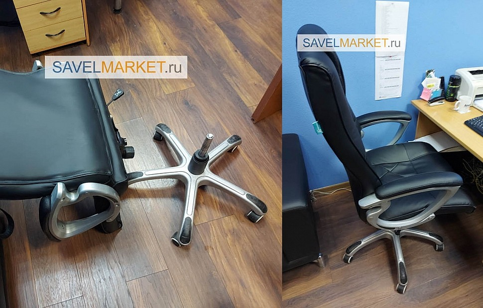 Ремонт кресел в офисе в Москве - Для ремонта первого кресла был выбран газлифт 140/240 класс 2, Для ремонта второго кресла был выбран газлифт 140/240 класса 3 с повышенной рабочей нагрузкой, Данные газлифты увеличат минимальную высоту кресла на 3 см. и максимальную высоту кресла на 7 см.