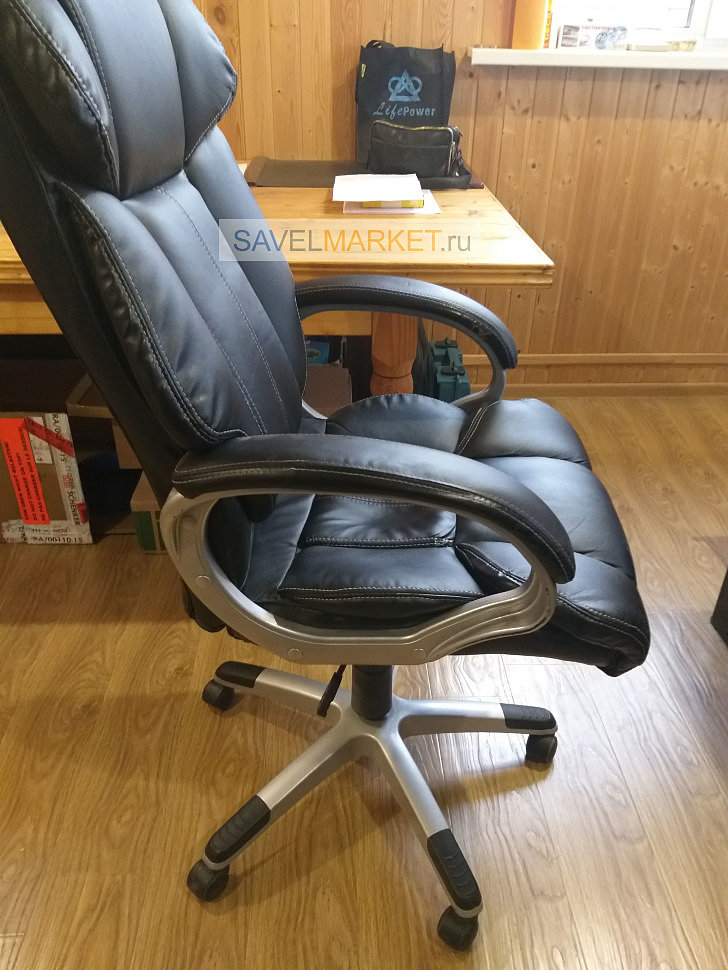 Ремонт кожаного кресла Chairman, замена газлифта 100/200