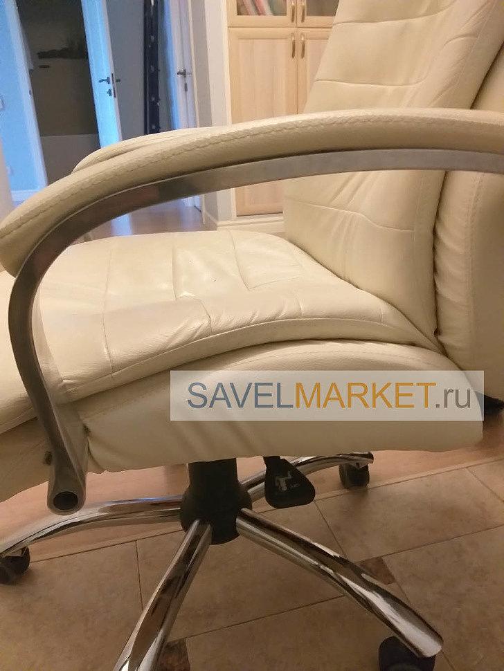 Ремонт кожаного кресла мастером Savelmarket