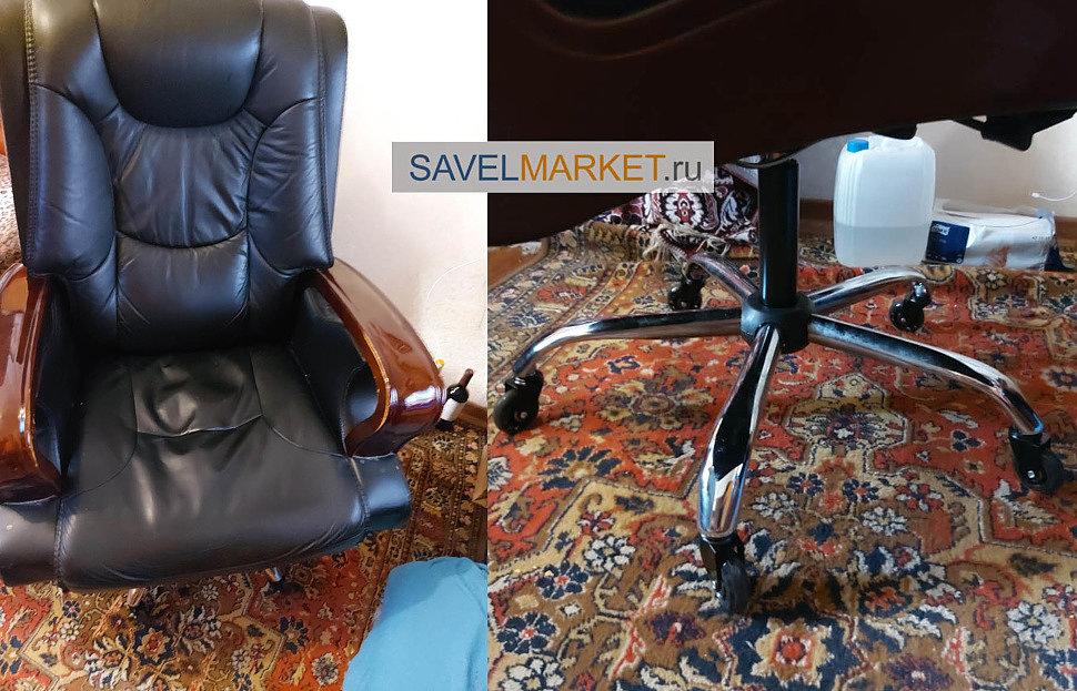 Как увеличить высоту кресла заменой газлифта - ремонт кресла Savelmarket.ru