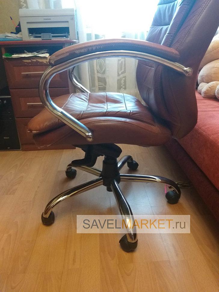Ремонт кожаного кресла Бюрократ, замена газлифта, Savelmarket