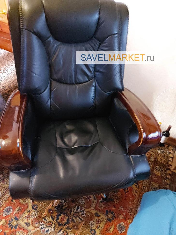 SavelMarket.ru - Мастер провел ремонтные работы: демонтировал газлифт, колеса и установил новые детали. По итогу минимальное положение кресла увеличилось на 7 см, а максимальное на 14 см.